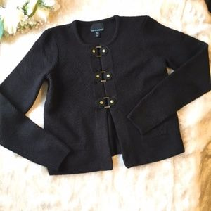 Cynthia Rowley // Black Military Sweater Cardigan